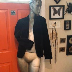 Thin corduroy black jacket.